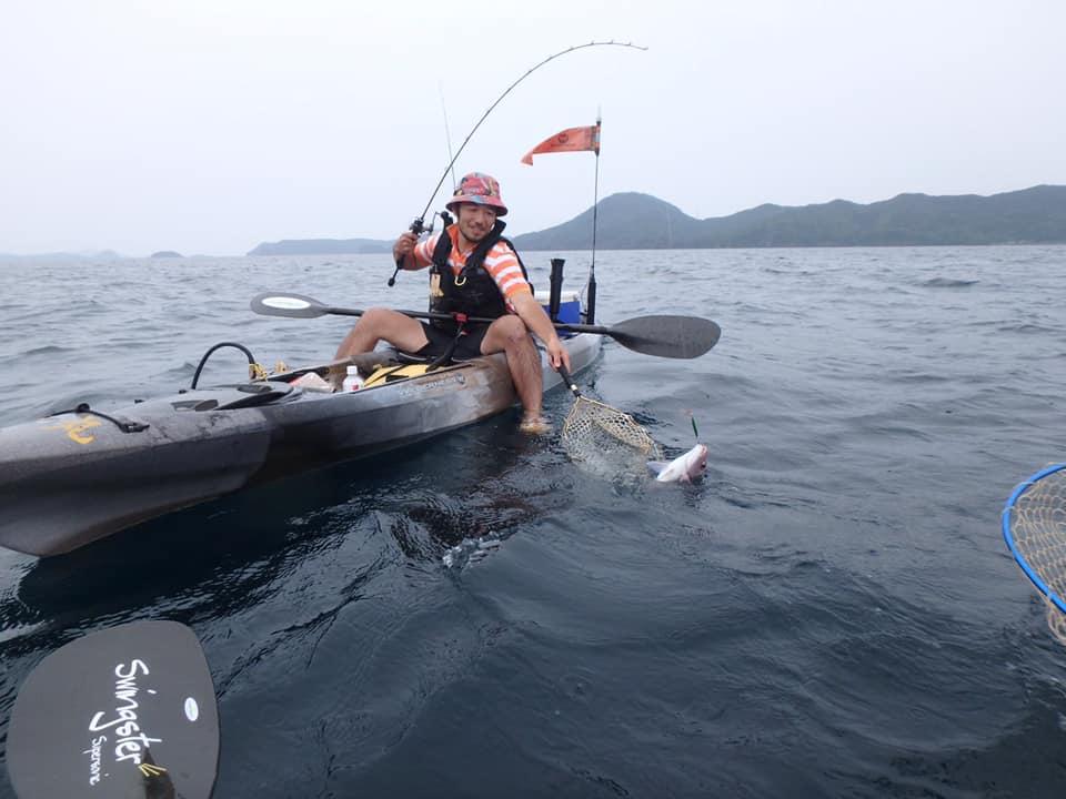 カヤックフィッシング真鯛